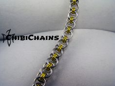 Bracelet - Helm Chain by Chibichains on DeviantArt #Chainmail #chainmaille #Helm…