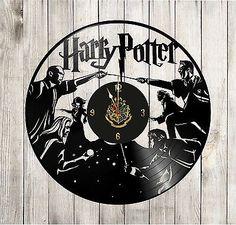 Harry Potter clock vinyl record Harry Potter decor 3 Deathly hallows