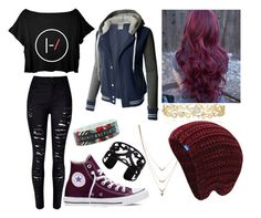 """Twenty One Pilots"" by lisa-j-castro on Polyvore featuring WithChic, Converse, LE3NO, Lisa August, Jessica Simpson, Effy Jewelry and Keds"