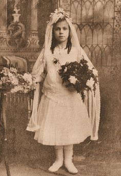 Cabinet Card  - Religious Victorian Girl First Communion