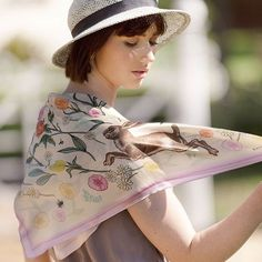 Pre-Order The Jumping Hares & Roses Silk Neckerchief – Katie Craven Luxury Cushions, Easter Weekend, Spring Has Sprung, Scarf Design, Neckerchiefs, Hand Illustration, Silk Scarves, Fashion Brand, Roses