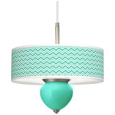 turquoise narrow zig zag cleo 16 wide pendant chandelier - Turquoise Chandelier Light