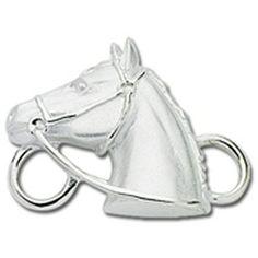 Horse Convertible Clasp https://www.goldinart.com/shop/convertible-clasp-bracelets/horse-convertible-clasp #ConvertibleClasps, #Horses, #SterlingSilver