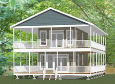 878 sq ft 16x30 House Model 10F 2 Bedroom 1.5 Bath PDF Floor Plan
