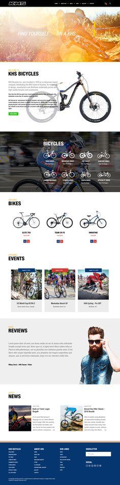 KHS Bicycles Wordpress Website Sample