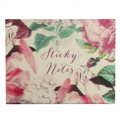 Blur floral boxed sticky notes
