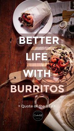 Homemade Shrimp Burrito n' Tortilla Shrimp Burrito, Burritos, Better Life, Food Photography, Homemade, Breakfast Burritos, Home Made, Hand Made