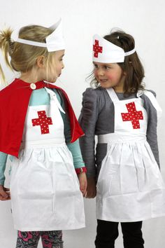 Sweetheart Nurses Outfit - girls costume fancy dress apron by sparrowandbcostumery on Etsy