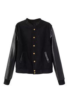 PU Panel Black Jacket