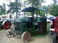 This is a Hart-Parr 28-50 the largest tractor in this series the. This tractor used a four cylinder engine with a 5.3/4 bore and 6.1/2 inch stroke this unit weighed in at 8700lbs