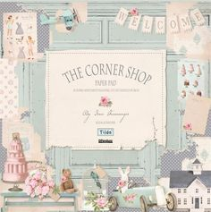 Pretty paper design❣ Tilda Corner Shop •  stitchcraftcreate.co.uk