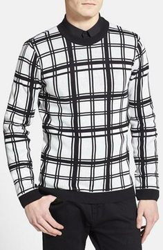 Love! Topman Check Crewneck Sweater