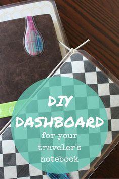 DIY Dashboard For Your Traveler's Notebook DIY Dashboard For Your Traveler's Notebook Travelers Notebook, Notebook Diy, Travel Journal Pages, Travel Journals, Bible Journal, Travel Scrapbook, Scrapbook Supplies, Scrapbooking, Printable Planner