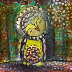 Whimsical Owls and Other Mixed Media Art From the Heart by Juliette Crane: thank you welcome The Joy Of Painting, Mixed Media Painting, Mixed Media Faces, Fiber Art Jewelry, Whimsical Owl, Painting Templates, Happy Paintings, Online Painting, Online Art