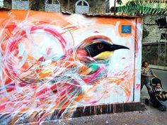 Colorful Abstract Birds by Spray Paint Artist L7M (10 pictures)