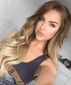 15 Ombre Long Hairstyles: #1. Long Bright Blonde Ombre Hairstyle