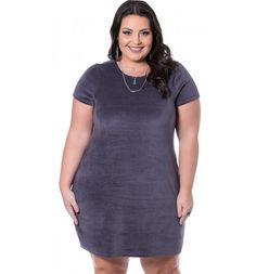 Vestido em Plush Mescla Miss Masy Plus Size  #modaplussize #roupasplussize #roupasfemininas #modafeminina #plussize #beline