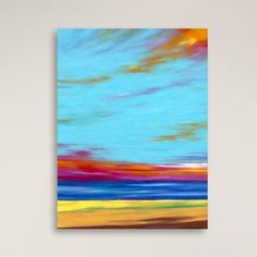 Gallery Direct Fire in the Sky by Marie Meyer Graphic Art on Canvas Size:
