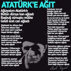 Atatürk'e ağıt The Valiant, Great Leaders, The Fool, Art History, Education, Feelings, My Love, Twitter, Memes