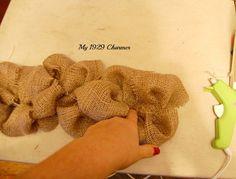 Burlap Trimmed Drop Cloth Curtains - My 1929 Charmer