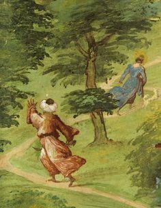Lorenzo Lotto ~ Storie di Santa Brigida (dettaglio)  ~ 1524 ~ affresco ~ Cappella Suardi ~ Trescore Balneario (Bergamo, Italia)
