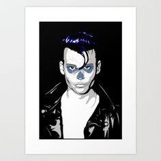 Day of the Depp Art Print by Andrew Mark Hunter - $17.68