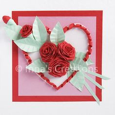 Inna's Creations: How to fold a rose (quilling)