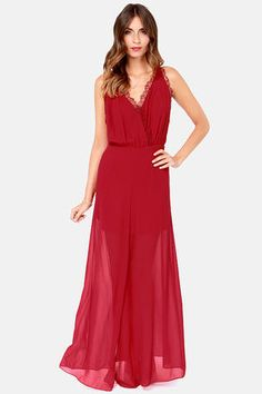 Evening Affair Wine Red Maxi Dress at LuLus.com! $49