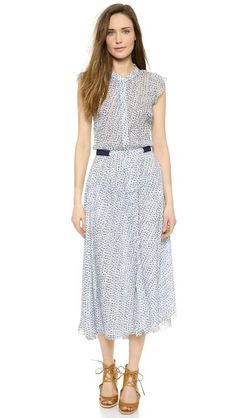 gorgeous floral floaty Band Of Outsiders Scribble Flower shirtdress