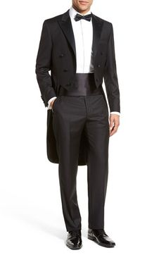 Hickey Freeman Classic Fit Wool Tailcoat Tuxedo | Nordstrom