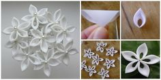 DIY Ribbon Kanzashi Sakura Flower Ball