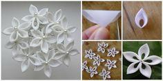 DIY Ribbon Kanzashi Sakura Flower Ball | www.FabArtDIY.com