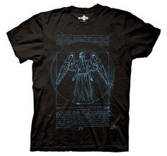 Doctor Who Shirts - Doctor Who Vitruvian Angel T-Shirt by Animation Shops