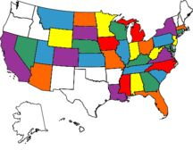 Finish this map! (states I have been to)  Go to this website, and create your own map.