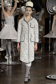 Thom Browne Spring 2013 RTW--Look at the piping on the coat. Great!