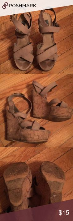 Steve Madden platform wedge sandals! Steve Madden platform wedge sandals! Sz 7.5 Steve Madden Shoes Sandals
