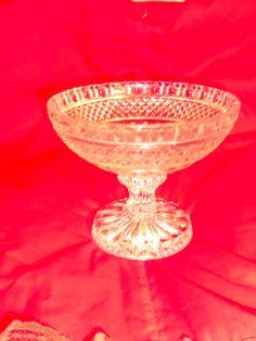 Vintage Glass Compote/Candy Dish Pressed by CountryMileCottage