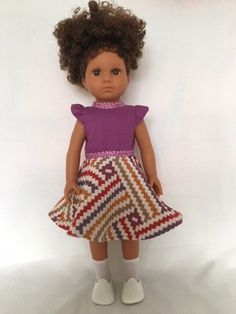 Mixed Race/Biracial/Light Brown Doll with Brown Curly Hair Brown Curly Hair, White Underwear, Daisy Mae, Mixed Race, Handmade Dresses, White Hair, Sock Shoes, White Shoes, Brown Eyes