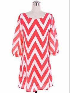 Coral Me Crazy Chevron Dress - $46.99 : FashionCupcake, Designer Clothing, Accessories, and Gifts