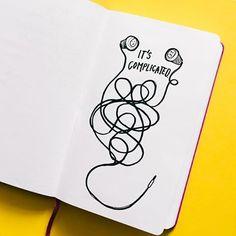 "That ""earphones"" kind of relationship. #dailydiary _ #earphones #illustration #illustrator #moleskine #relationship #complicated #czechart #diary #moleskinart #instart #sharpiepen #sketchbook #365drawings #drawdaily #drawdaily"
