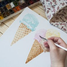The first step of our future pattern. We like this delicious ice cream from Russian designer - Mary Art.