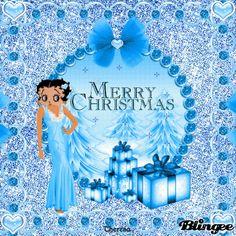 BLUE CHRISTMAS BETTY BOOP