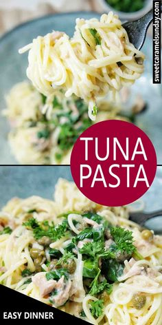 Tuna Spaghetti is for dinner. This quick and easy Tuna Spaghetti recipe is a creamy delicious bowl of goodness. Tuna Spaghetti Recipe, Tuna Pasta, Spaghetti Recipes, Pasta Recipes, Recipe Pasta, Sunday Recipes, Lunch Recipes, Drink Recipes, Tuna Dishes