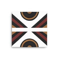 A handmade design printed on white canvas with an ethnic vibe.Black, brown, light brown and yellow ochre create a simple yet beautiful artwork to compliment your space. Blue Pillows, Blue Design, Handmade Design, Geometric Designs, Beautiful Artwork, Watercolor Art, Stretcher Bars, Canvas, Illustration