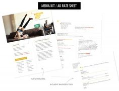 Designlovefest's media kit and invoices