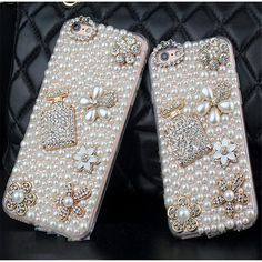 Bling Phone Cases, Cheap Phone Cases, Cute Phone Cases, Iphone 7 Plus Cases, Diamond Flower, Pearl Flower, Pearl Diamond, Galaxy Note 4, Iphone 6