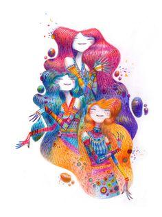 Moon est un illustrateur nantais aussi à l'aise avec le graphite que les crayons de couleur, la sculpture ou la 3D. S'étant donné le challenge #365SQUARES qui l'encourage à publier chaque jour une ima