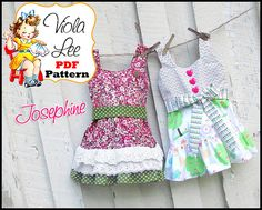 Josephine.... Girl's Dress Pattern Girl's Sewing