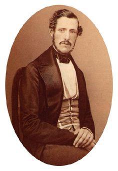 """Frans Oscar Gustaf Bernadotte 1827-1852, """"sångarprinsen""""- ett av Bernadottebibliotekets äldsta foto."""