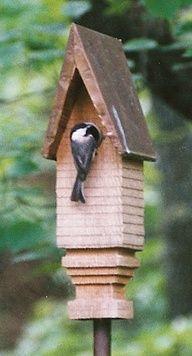 Handmade cedar and copper birdhouses - art for your garden Birdhouse Designs, Unique Birdhouses, Bird Boxes, Bird Watching, Bird Feathers, Beautiful Birds, Decoration, Chickadees, Birdhouses